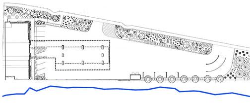 landscape plan for gas station