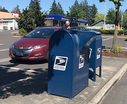 Blue boxes at Safeway