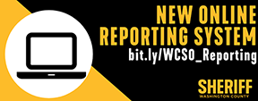washington county sheriff new online reporting system logo