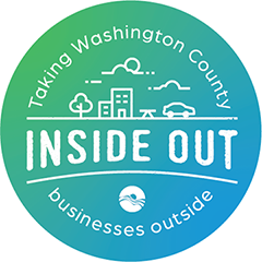 Inside Out logo - taking washington county business outside