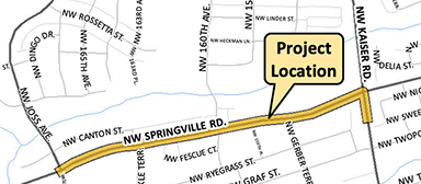 Springville project location map