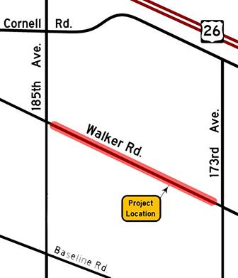 Walker Road project location map