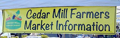cedar mill farmers market information banner