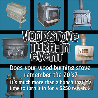 woodstove turn in event poster