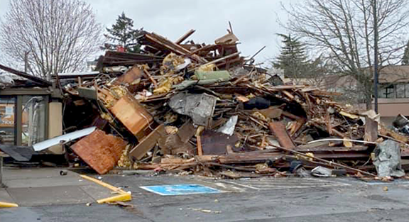 shari's demolition aftermath