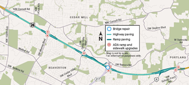 paving route map