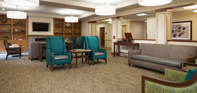 ackerly memory care seating area